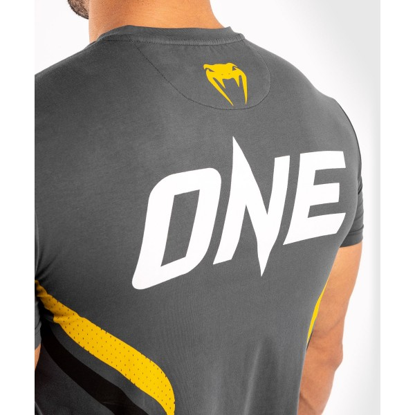 Футболка Venum ONE FC Impact Grey/Yellow