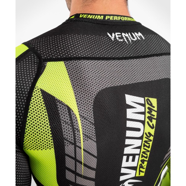 Рашгард Venum Training camp 3.0 Black/Neo Yellow L/S
