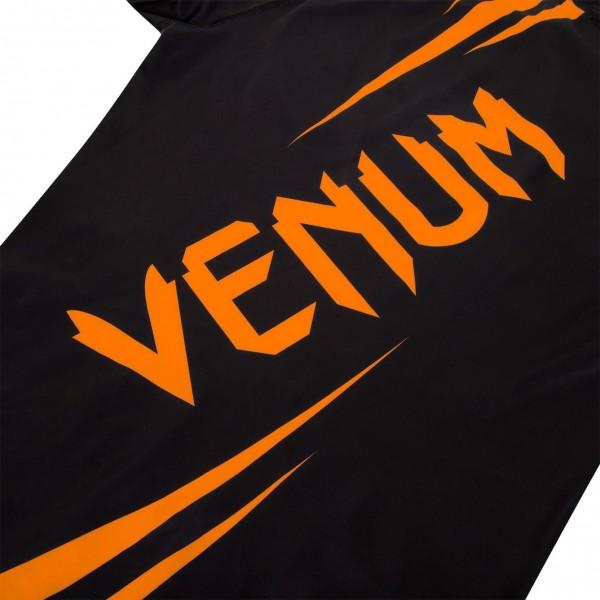 Рашгард Venum Challenger L/S Black/Neo Orange