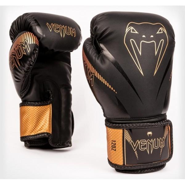 Перчатки боксерские Venum Impact Black/Bronze