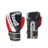 Перчатки боксерские Kango BAK-025 Black/Red/White Буйволиная кожа