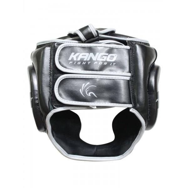 Шлем боксерский Kango KHG-070 Black/Grey PU