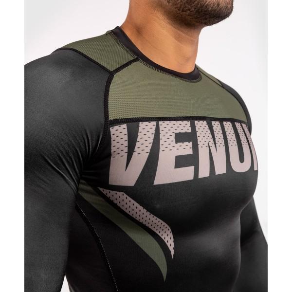 Рашгард Venum ONE FC Impact Black/Khaki L/S