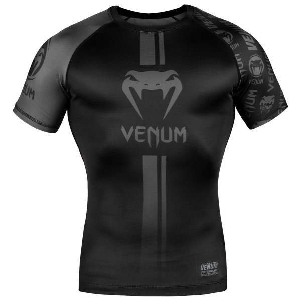 Рашгард Venum Logos Black/Grey S/S