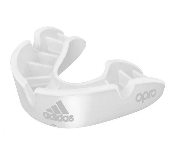 adiBP31 Капа одночелюстная Opro Bronze Gen4 Self-Fit Mouthguard Adidas белая