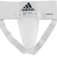 adiBP06WKF Защита паха мужская Men Groin Guard Adidas одобрена WKF белая