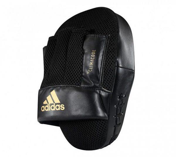 adiSBAC014 Лапы изогнутые Curved Speed Mesh Coach Mitts Adidas черно-золотые