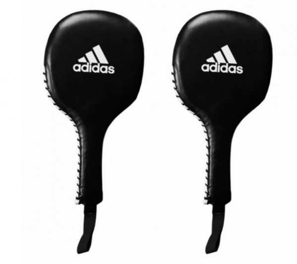 adiPT01 Лапы-ракетки Boxing Paddle Target черно-белые