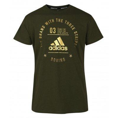 Футболка Adidas The Brand With The Three Stripes T-Shirt Boxing зелено-золотая