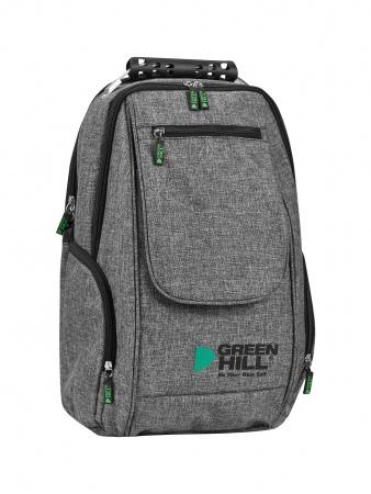 SKG-222 Рюкзак с клапаном Green Hill серый
