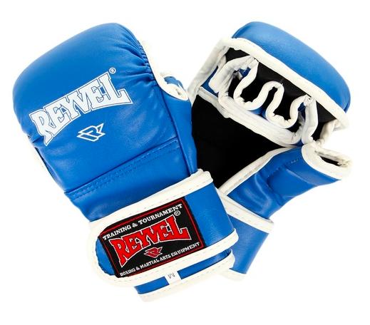 Перчатки ММА тренировочные Reyvel красные/синие/черные