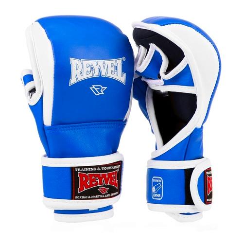 Перчатки ММА pro Training Reyvel красные/синие/черные