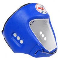 Шлем для тайского бокса лицензия ФБТР Reyvel красный/синий